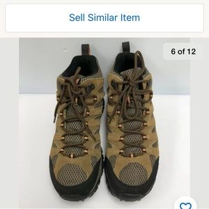 Merrell Hiking Boots Men Size 9.5